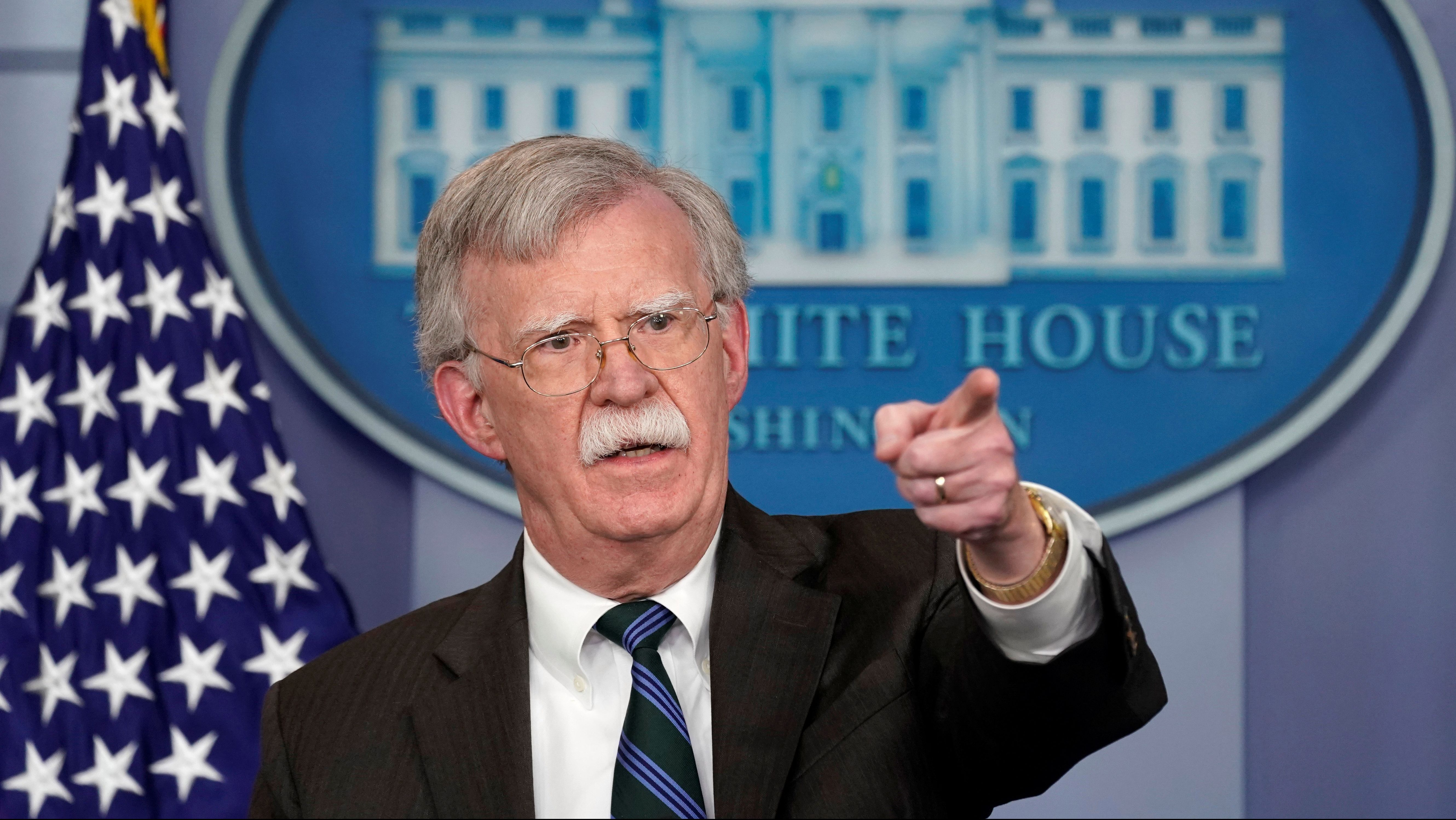 U.S. President Donald Trump's national security adviser John Bolton speaks during a press briefing at the White House in Washington, U.S., November 27, 2018.
