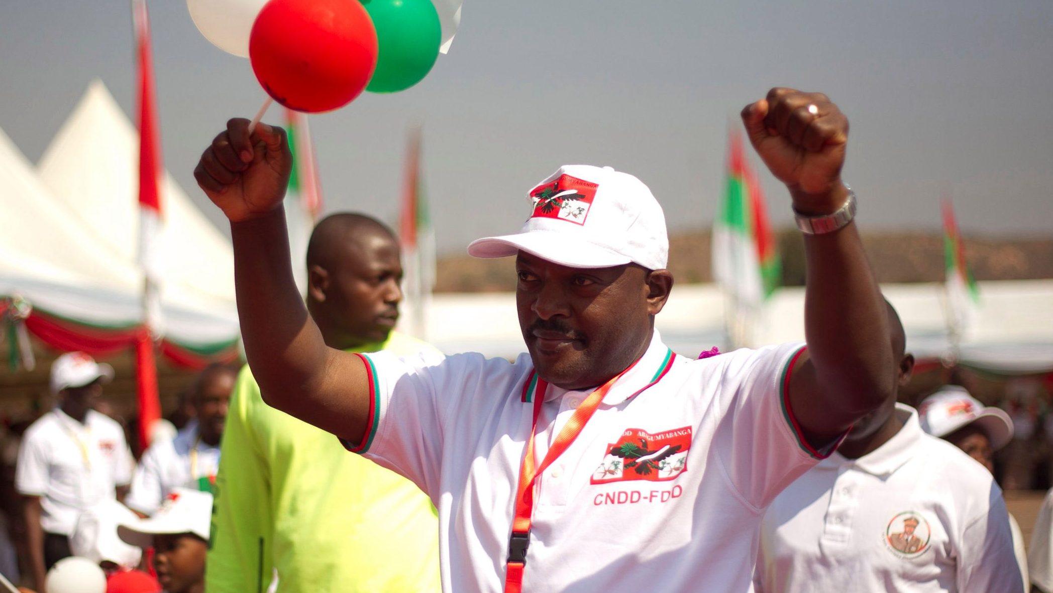 Burundi's President Pierre Nkurunziza attends the ruling Conseil National pour la Defense de la Democratie - Forces pour Defense de la Democratie (CNDD-FDD) party extraordinary congress in Gitega Province, Burundi, August 20, 2016.