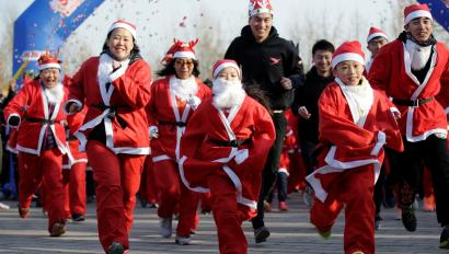 Christmas In China.China Writes To Santa Claus In Rovaniemi Finland For