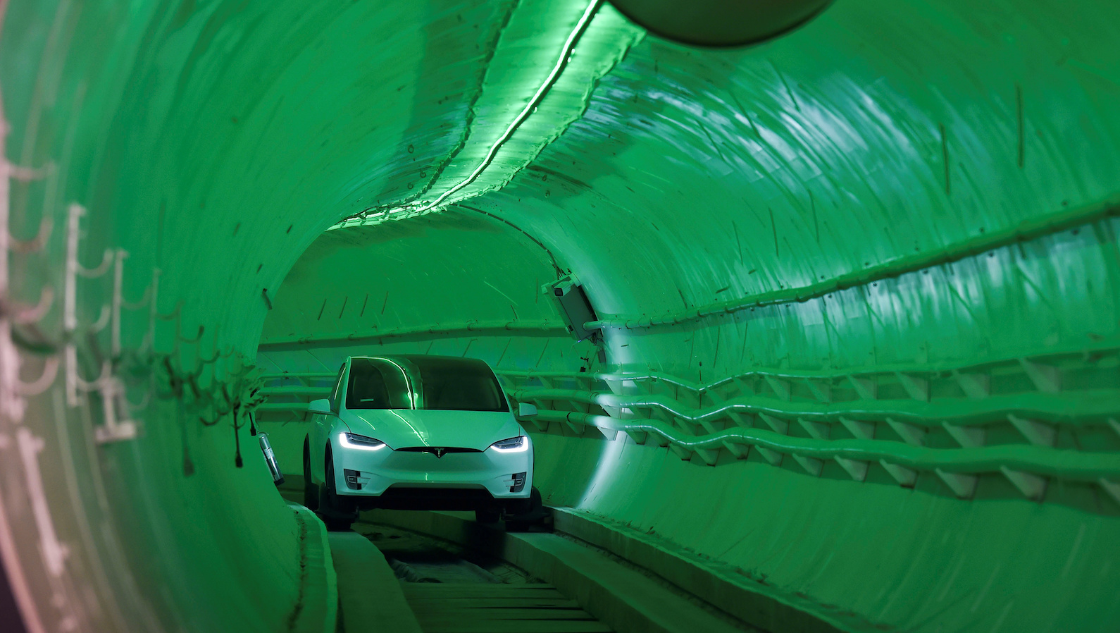The Boring Company shows off their first tunnel in Hawthorne, California