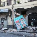 Shops are seen damaged by an earthquake, measuring magnitude 4.8, at the area north of Catania on the slopes of Mount Etna in Sicily, Italy, December 26, 2018. REUTERS/Antonio Parrinello - RC1EDF0B7970