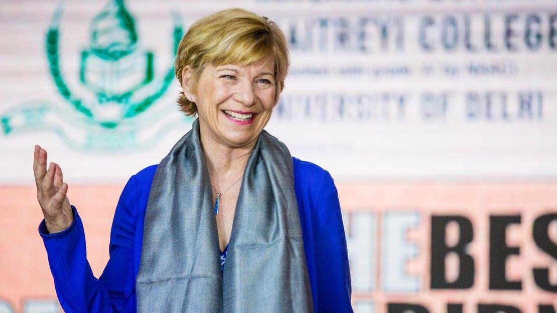 Susan Desmond-Hellmann in India