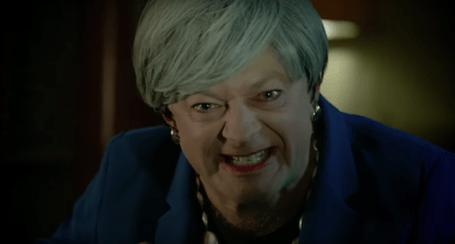 Andy Serkis revived his infamous role of Gollum to take aim at British prime minister Theresa May.