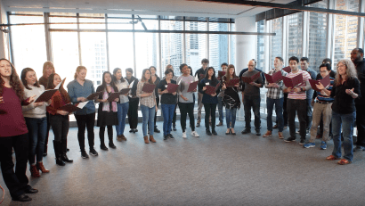 University of Chicago Booth School of Business pop-up choir
