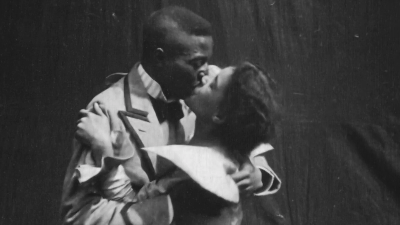 The story behind the first depiction of African-American love on screen
