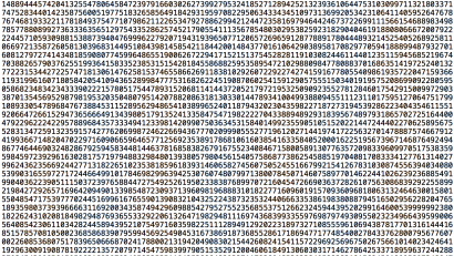 A sliver of the largest known prime number.
