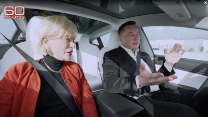 Elon Musk and Lesley Stahl on 60 Minutes