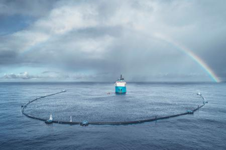 There is now a giant 600-meter-long boom in the Pacific that uses oceanic forces to clean up plastic.