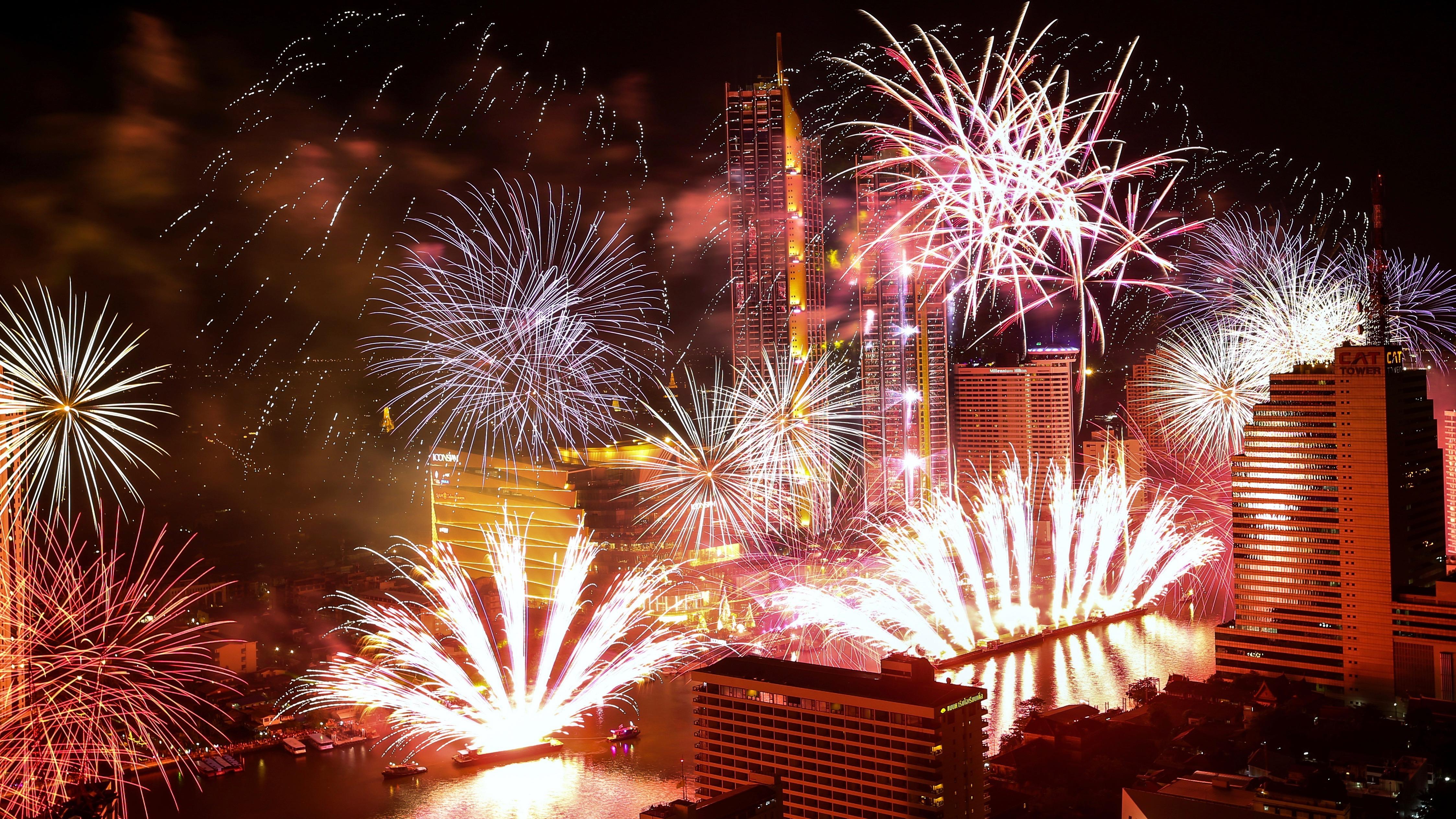 Fireworks in Thailand.