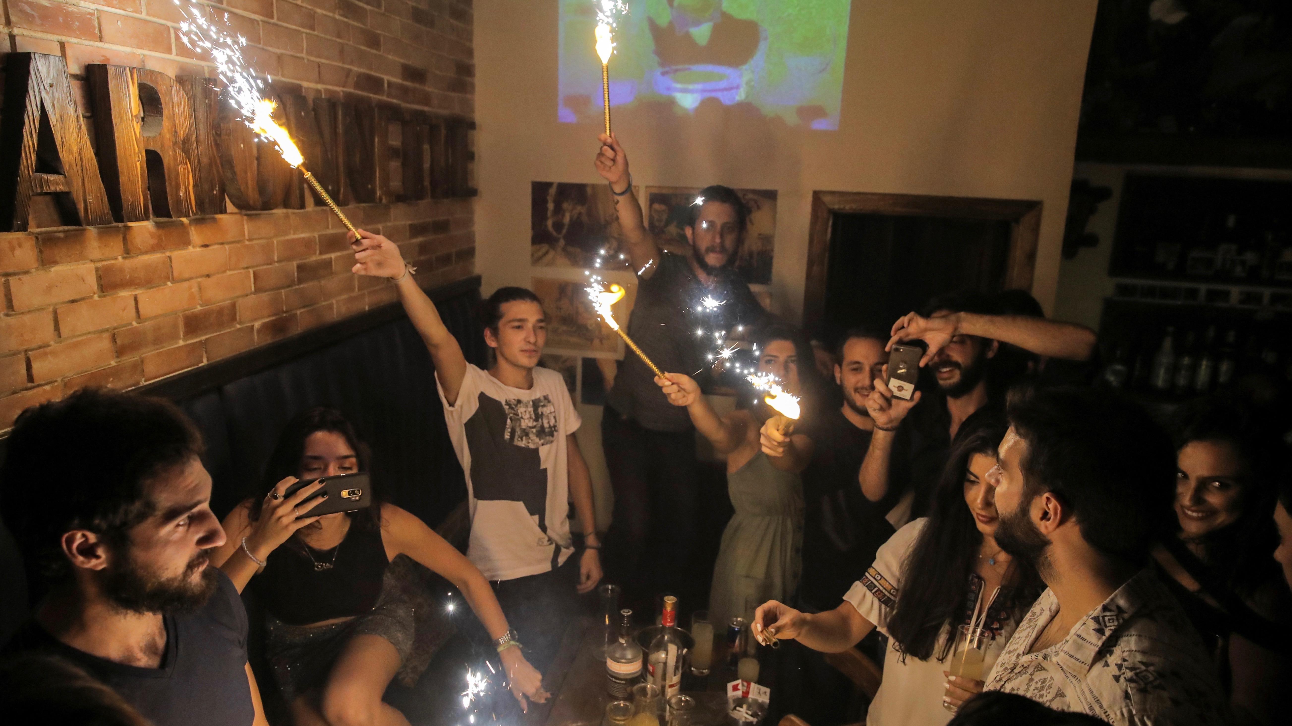 A bar in Syria.