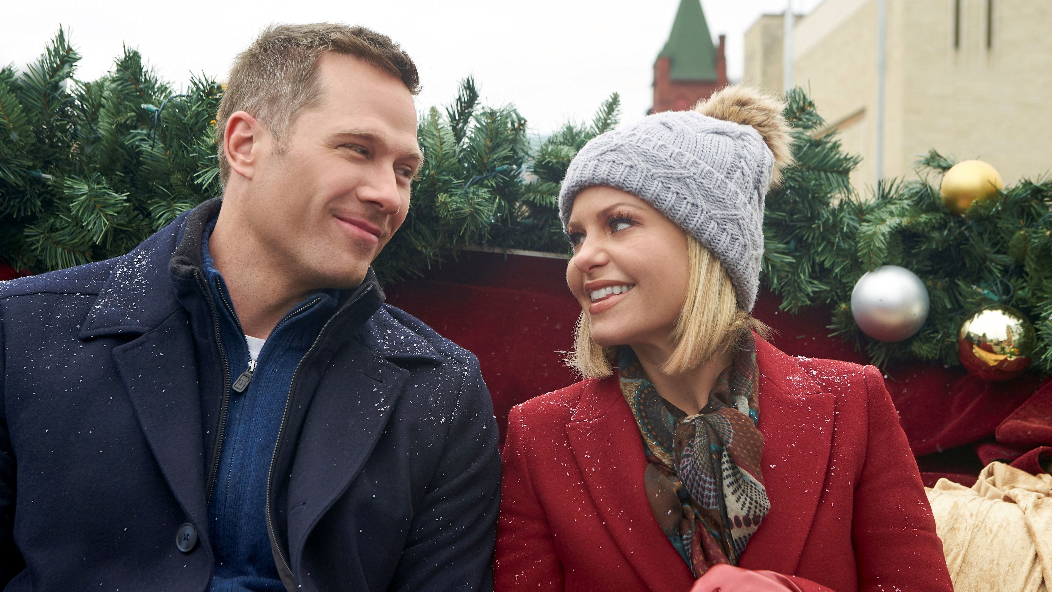 "Actors Luke MacFarlane and Candace Cameron-Bure star in Hallmark Channel's ""A Shoe Addict's Christmas"""