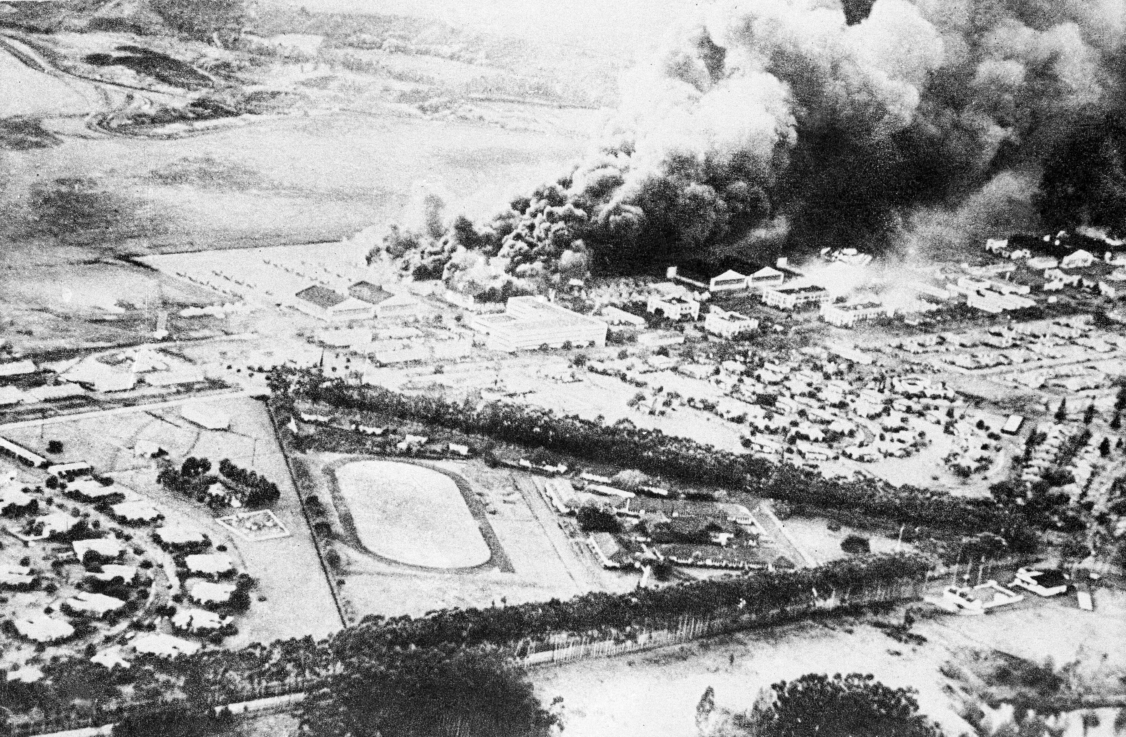 What the attack on Pearl Harbor looked like from the air and ground