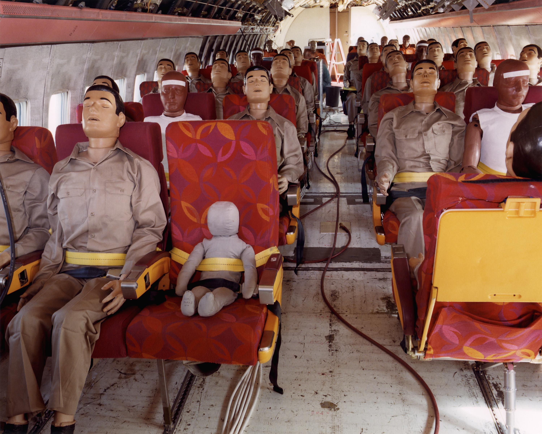 Passenger dummies inside the CID test plane.