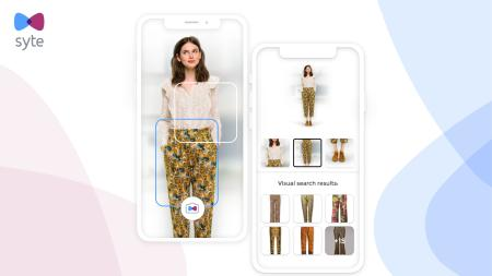 Farfetch's visual search function, powered by Syte.