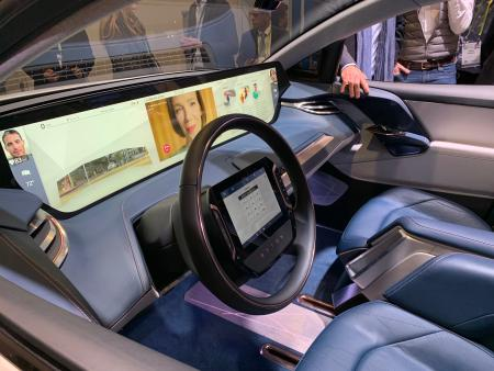 Byton's M-Byte SUV, displayed at the CES 2019/