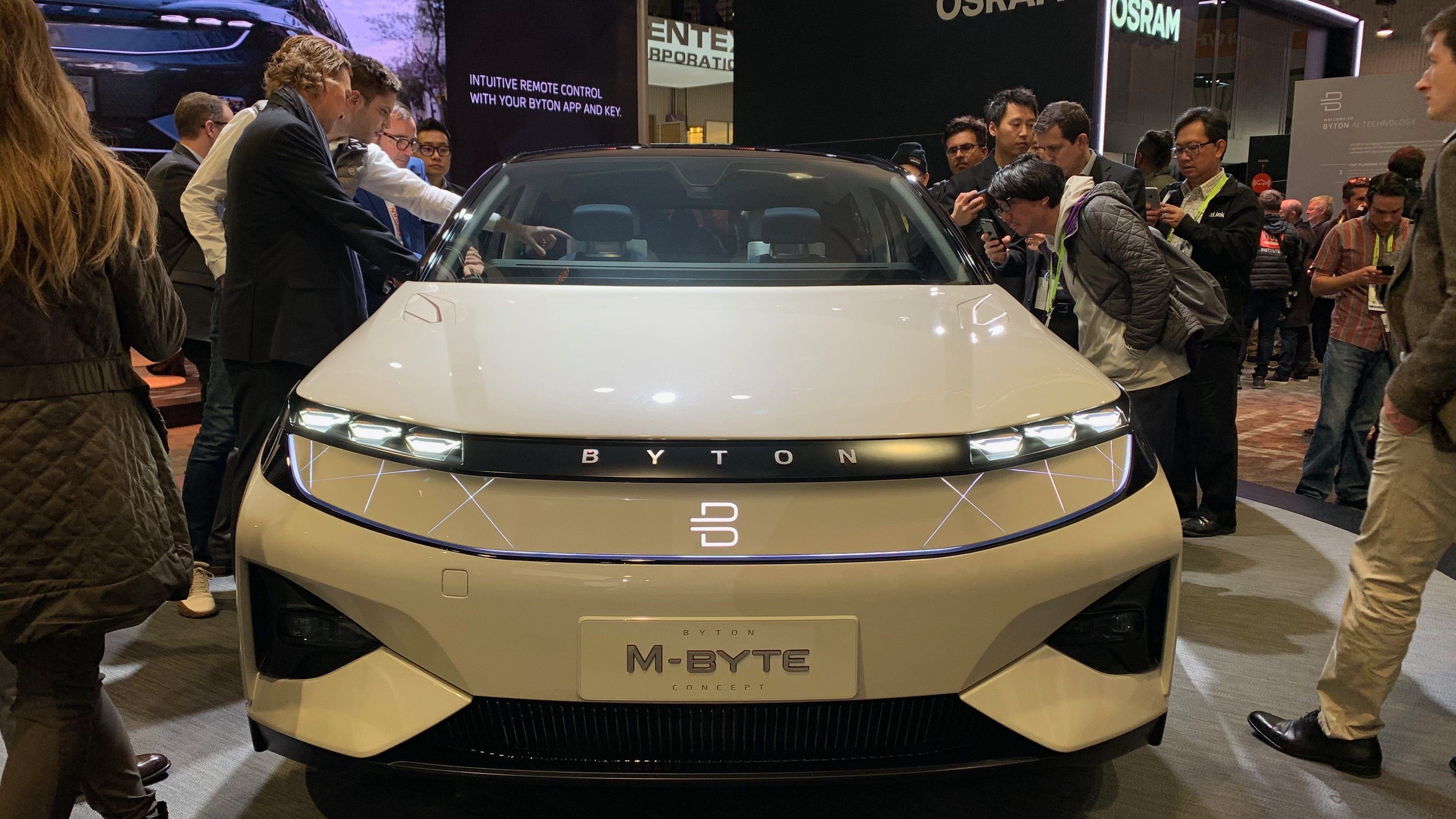 Byton's M-byte at the CES show.