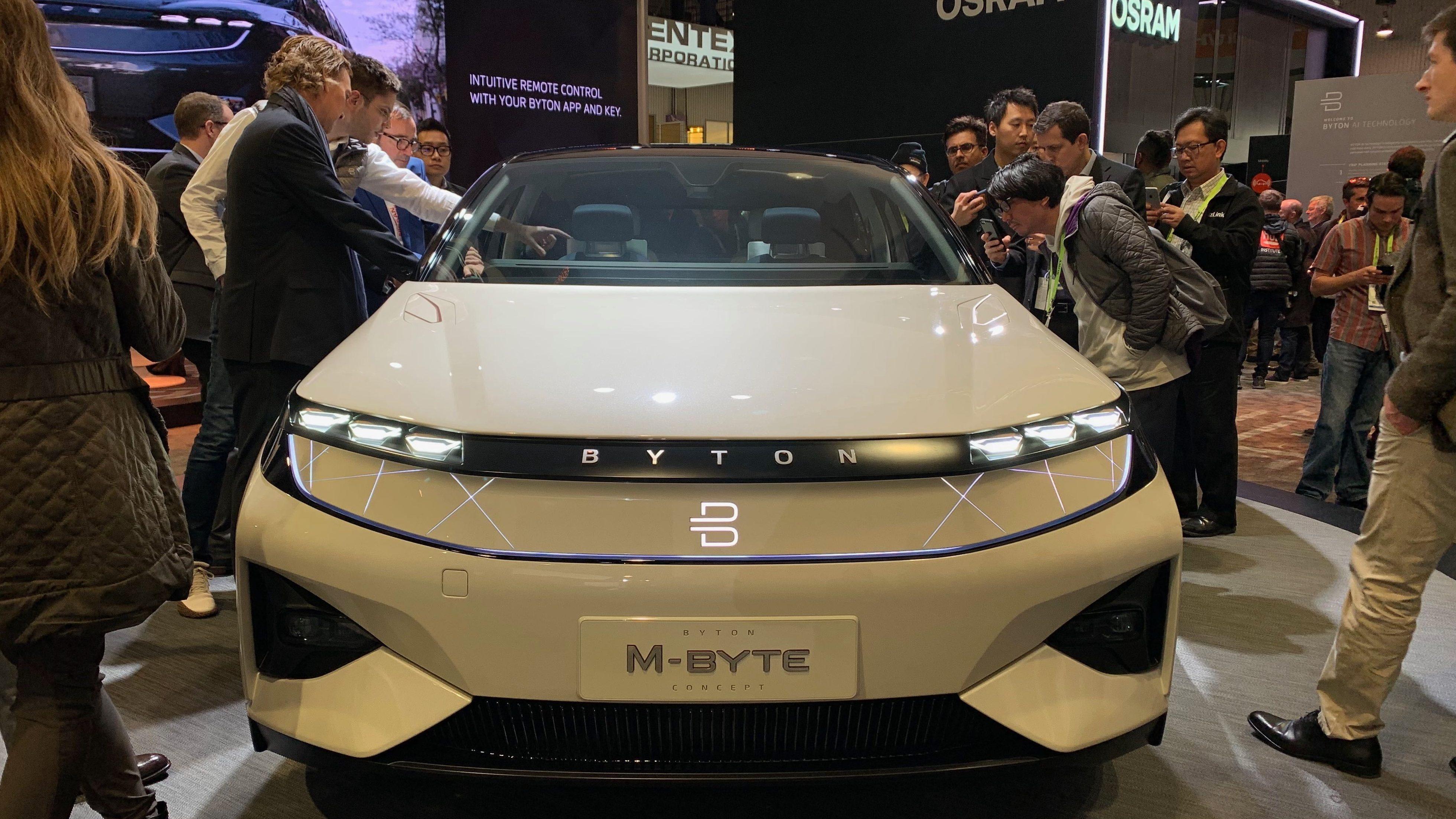 """Résultat de recherche d'images pour """"Byton, innovation, electric vehicle, ces 2019"""""""