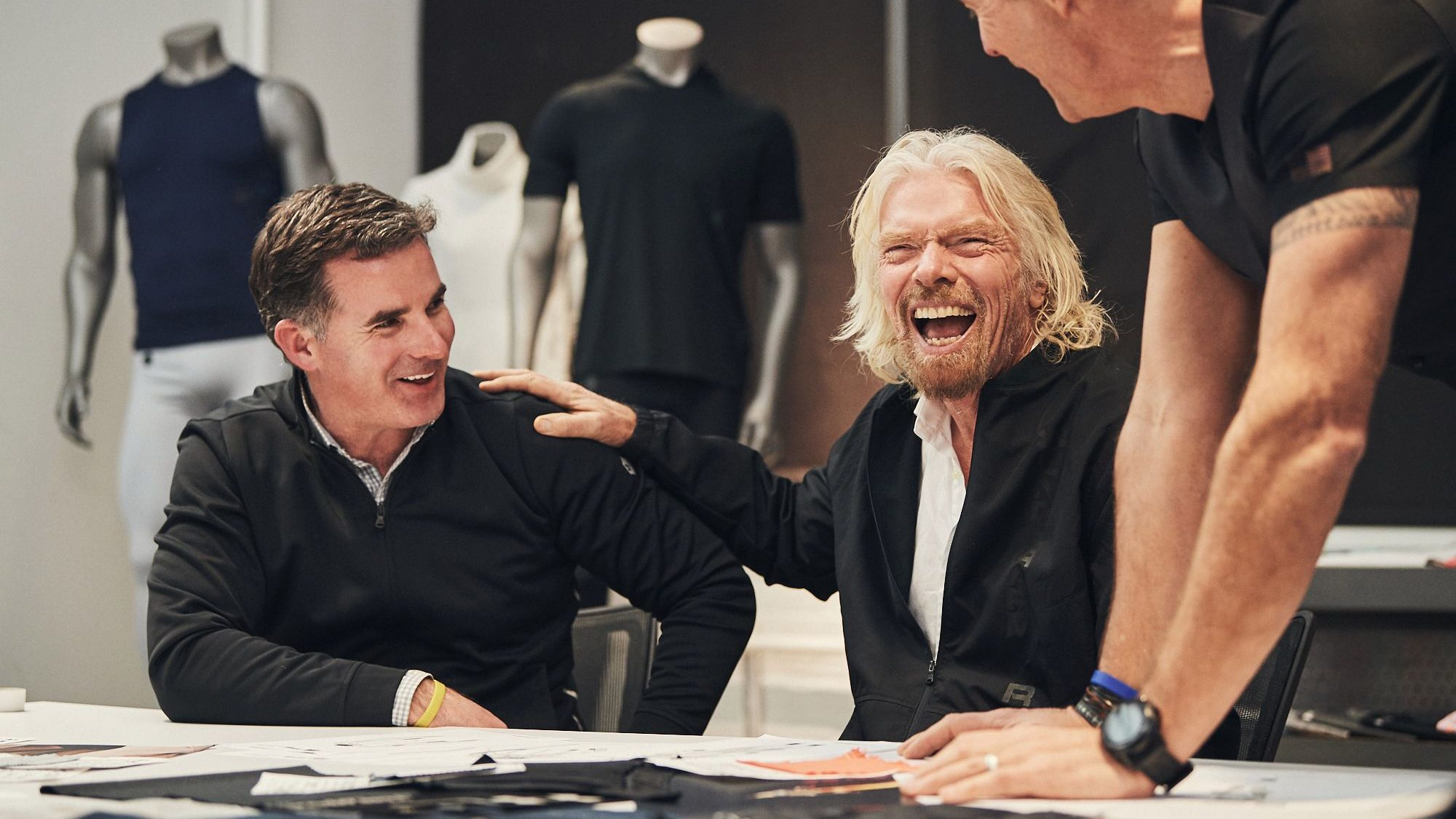 Kevin Plank and Richard Branson.