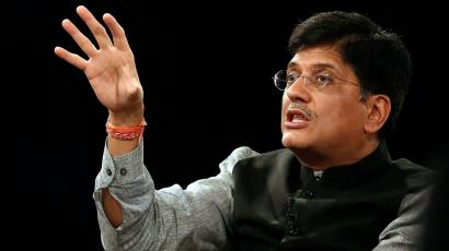 India's Power Minister Goyal speaks during the India Economic Summit 2014 at the World Economic Forum in New Delhi