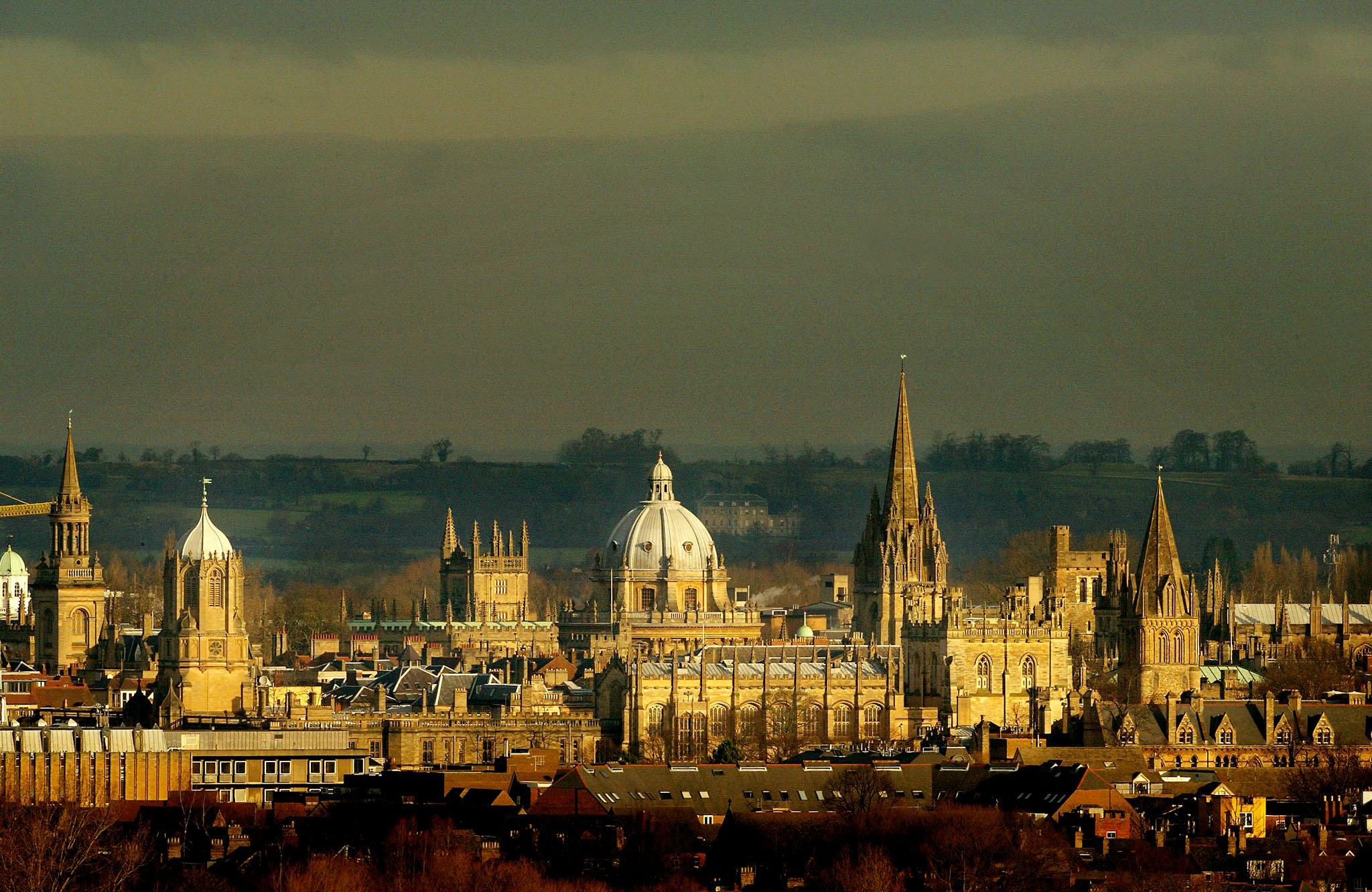 The rooftops of the university city of Oxford.