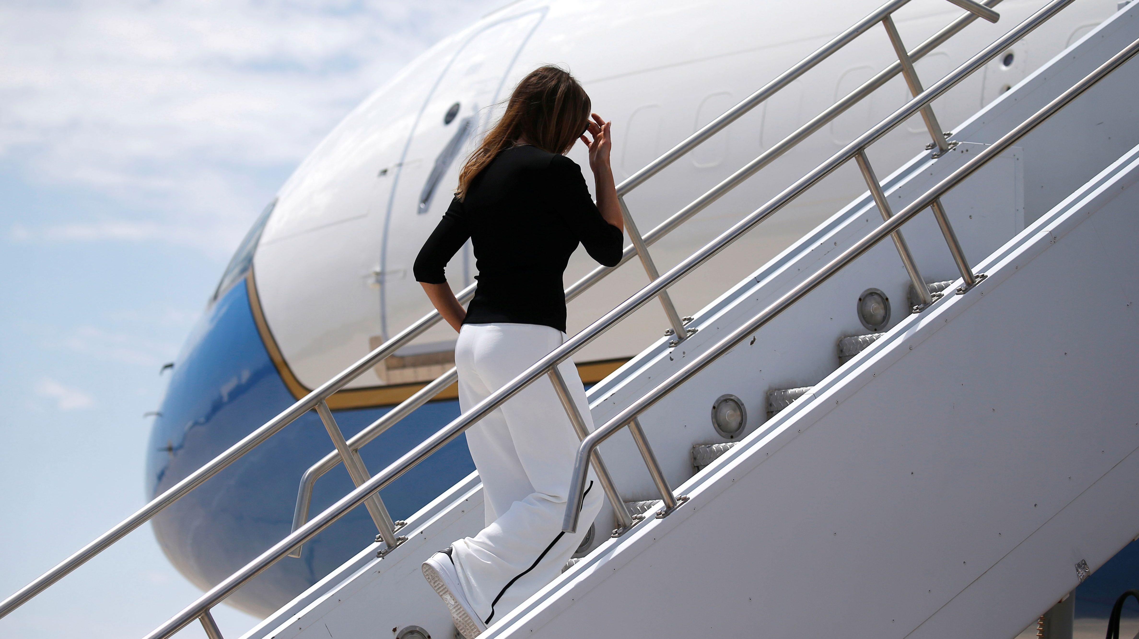 As Trump grounds Pelosi's troop visit, FLOTUS took a $35,000