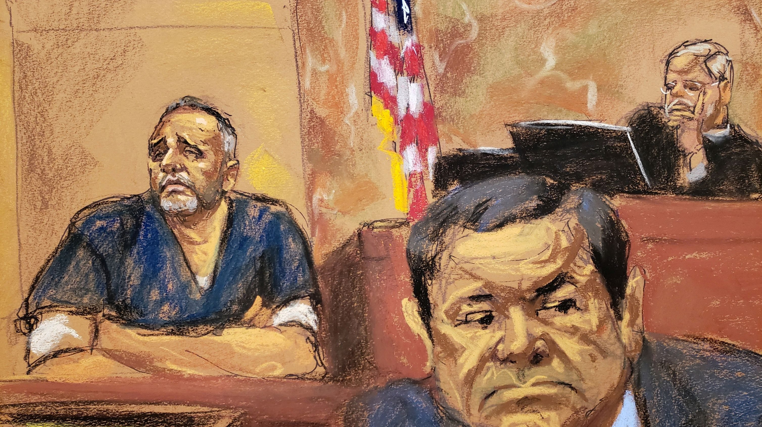 Alex Cifuentes (L), a close associate of the accused Mexican drug lord Joaquin