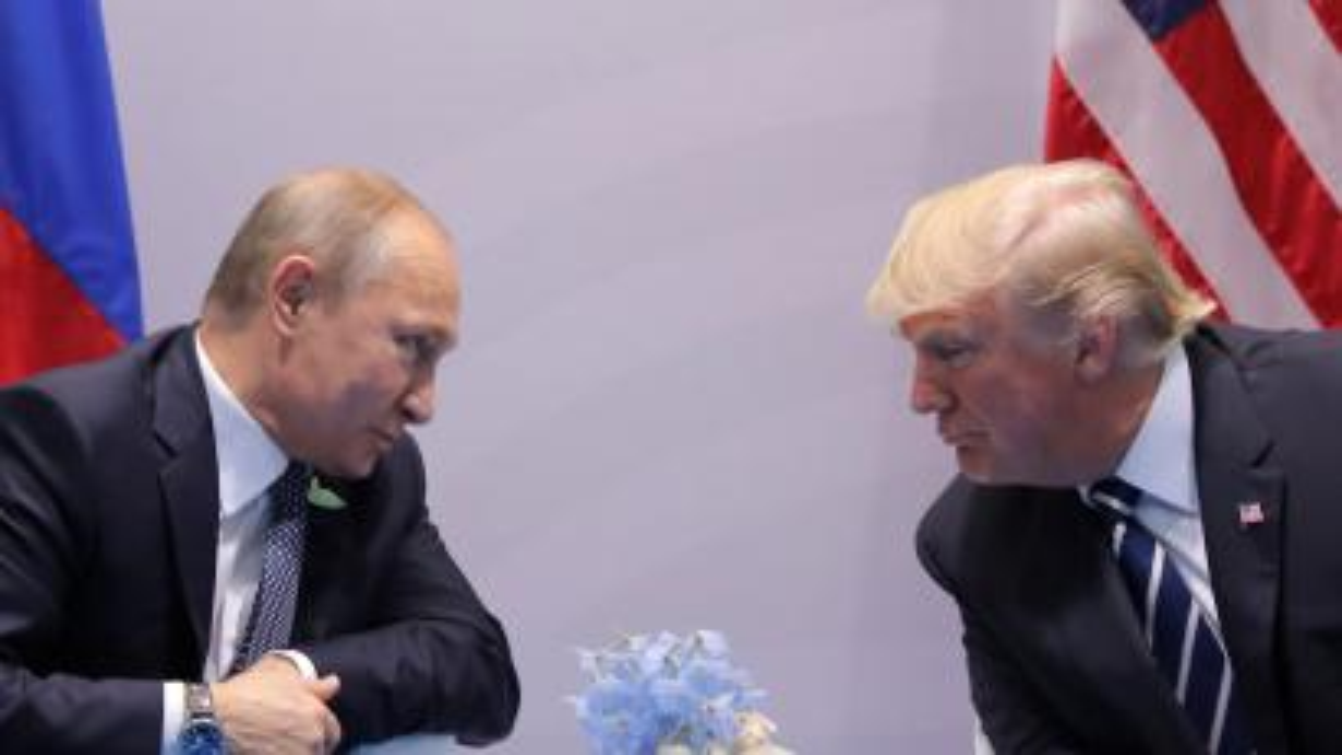 Putin and Trump in Hamburg in 2017.
