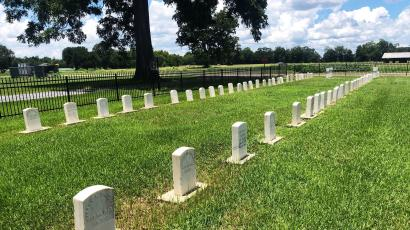 arkes for former leprosy patients line a graveyard in the former leprosy colony at what is now the Gillis W. Long National Guard Center in Carville, Louisiana, U.S., July 6, 2018