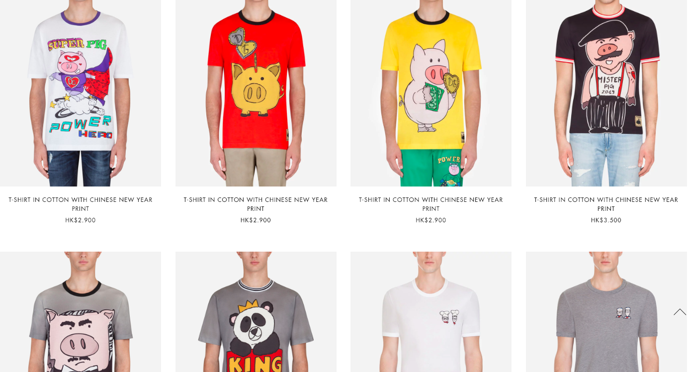 Dolce&Gabbana's pig-themed T-shirts