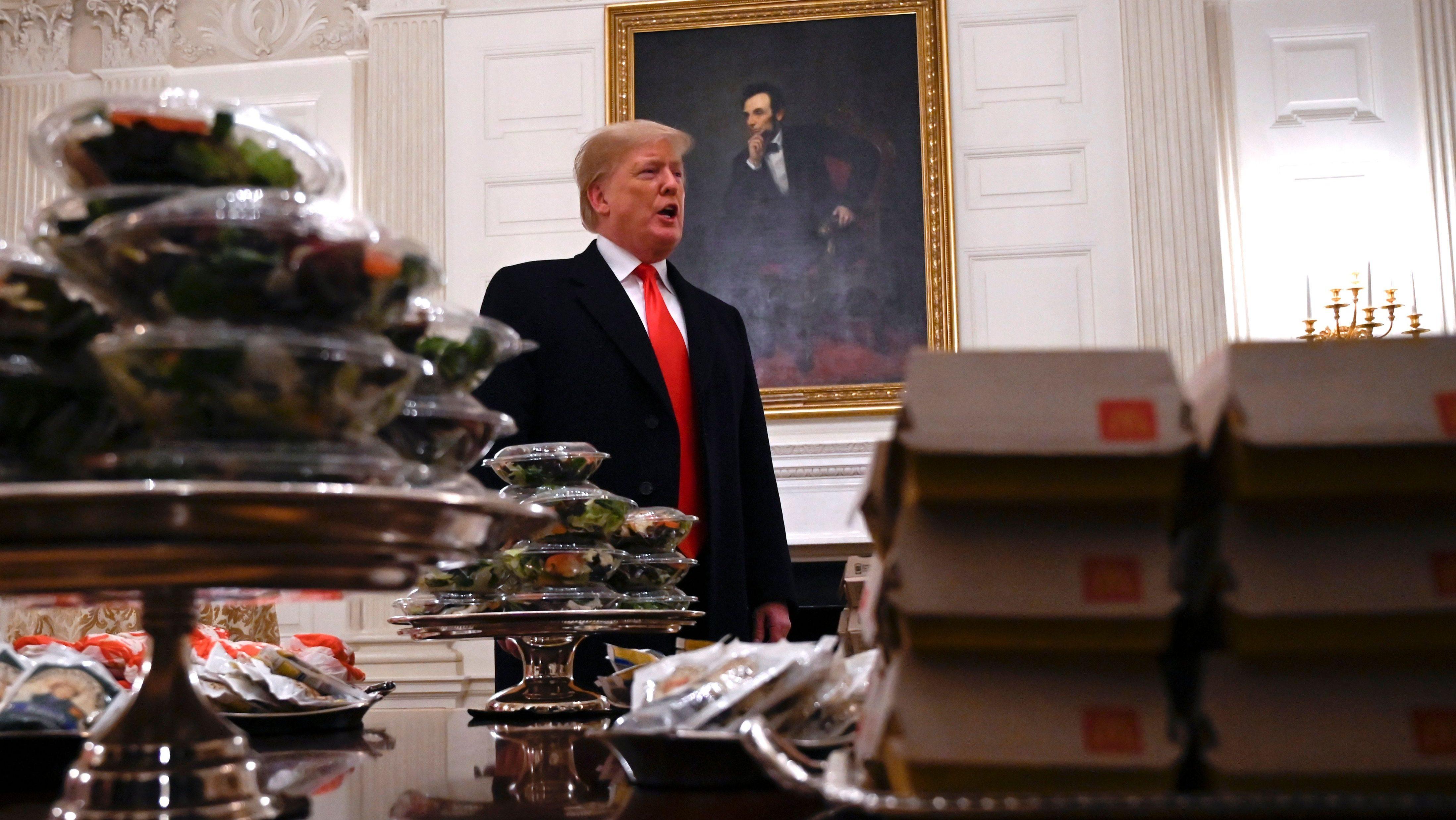 The problem with mocking Trump's McDonald's feast — Quartzy