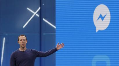 Facebook CEO Mark Zuckerberg speaks about Messenger at Facebook Inc's annual F8 developers conference in San Jose, California.