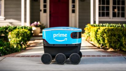 Amazon's new robot Scout delivers packages to rich people