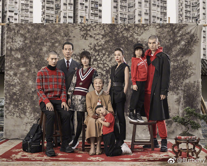 Burberry promotion photo for its new year products.