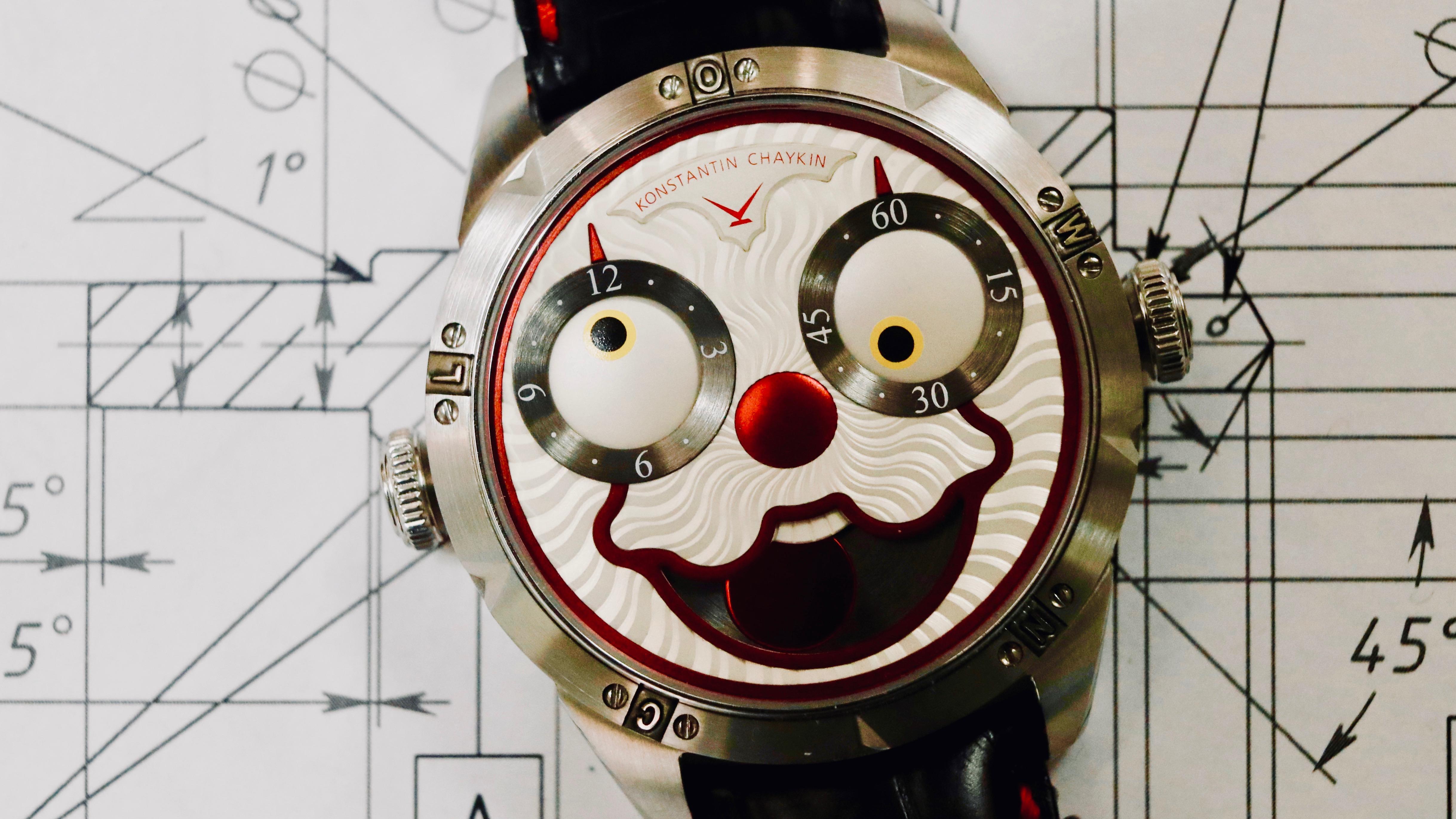 Clown watch.