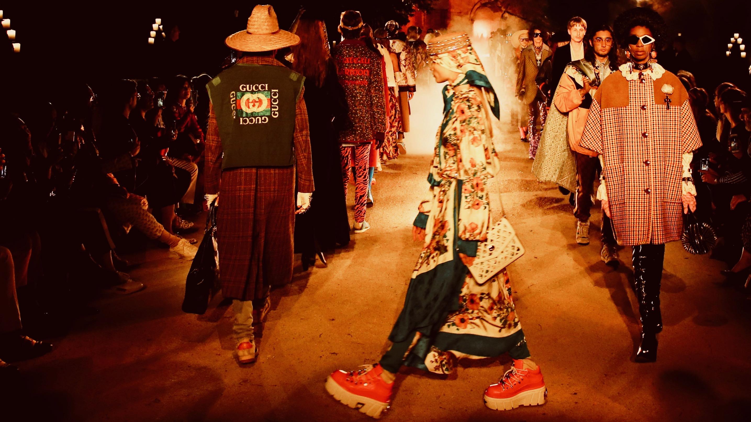 Gucci runway show.