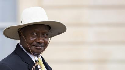 Ugandan President Yoweri Kaguta Museveni Leaves After a Meeting with French President Francois Hollande (not Pictured) at the Elysee Palace in Paris France 19 September 2016 Museveni is in Paris on a State Visit to Improve Trade and Investment Relations Between His Country with France France Paris France Uganda Diplomacy - Sep 2016