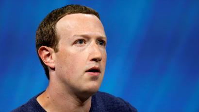 Facebook's founder and CEO Mark Zuckerberg reacts as he speaks at the Viva Tech start-up and technology summit in Paris, France, May 24, 2018.
