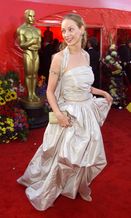Actress Uma Thurman arrives at the 71st Annual Academy awards at the Dorothy Chandler Pavilion in Los Angeles, March 21. Thurman is a presenter at the Awards. JC/JP/DL/JRE