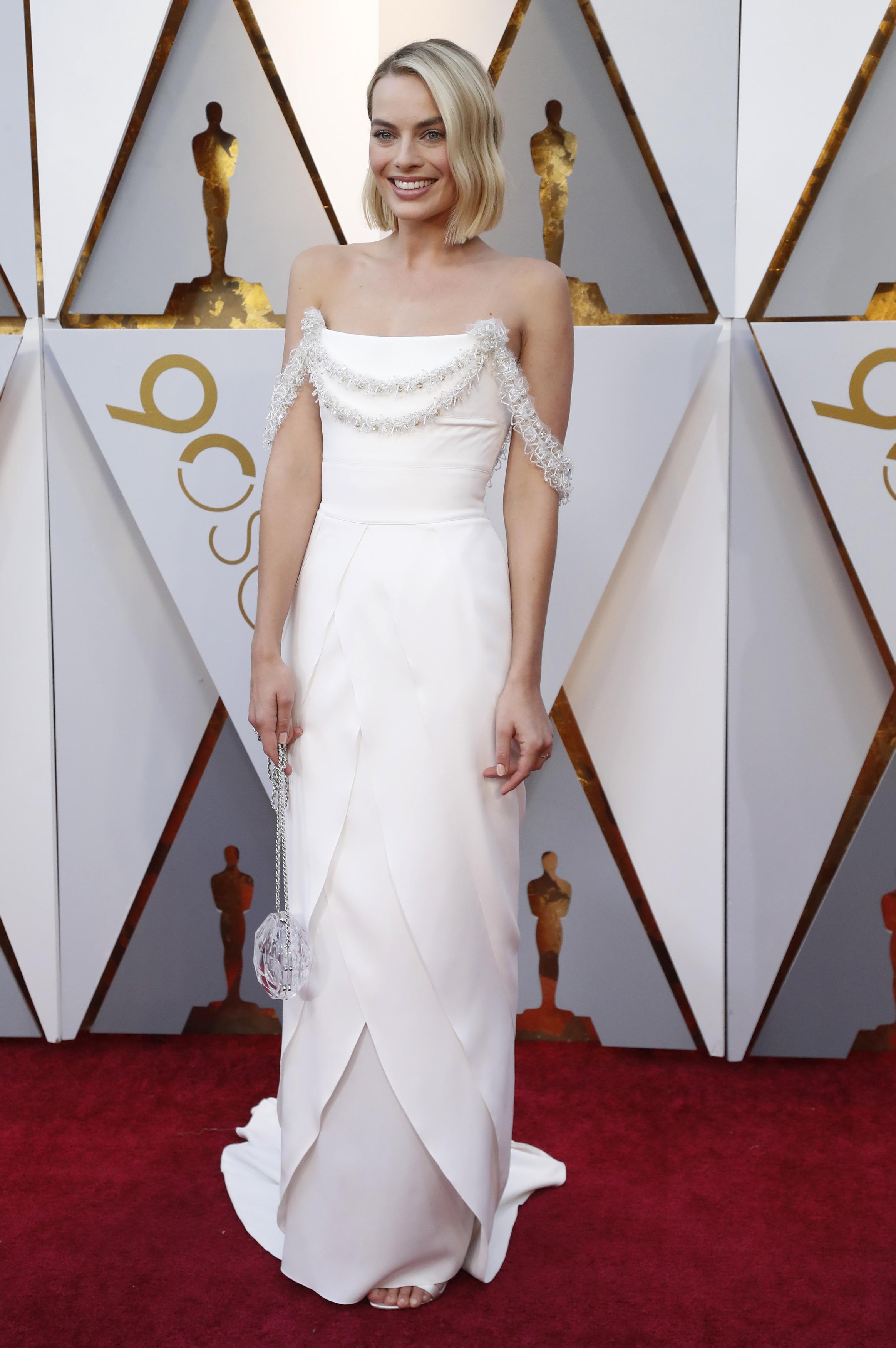 90th Academy Awards - Oscars Arrivals – Hollywood, California, U.S., 04/03/2018 – Margot Robbie wears Chanel. REUTERS/Mario Anzuoni - HP1EE350202MK