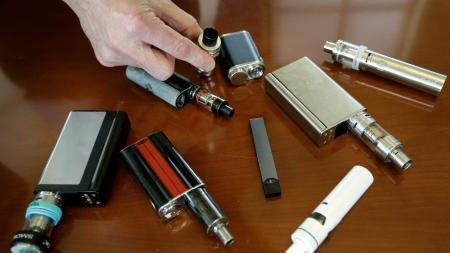 E-cigarettes and their cartridges.