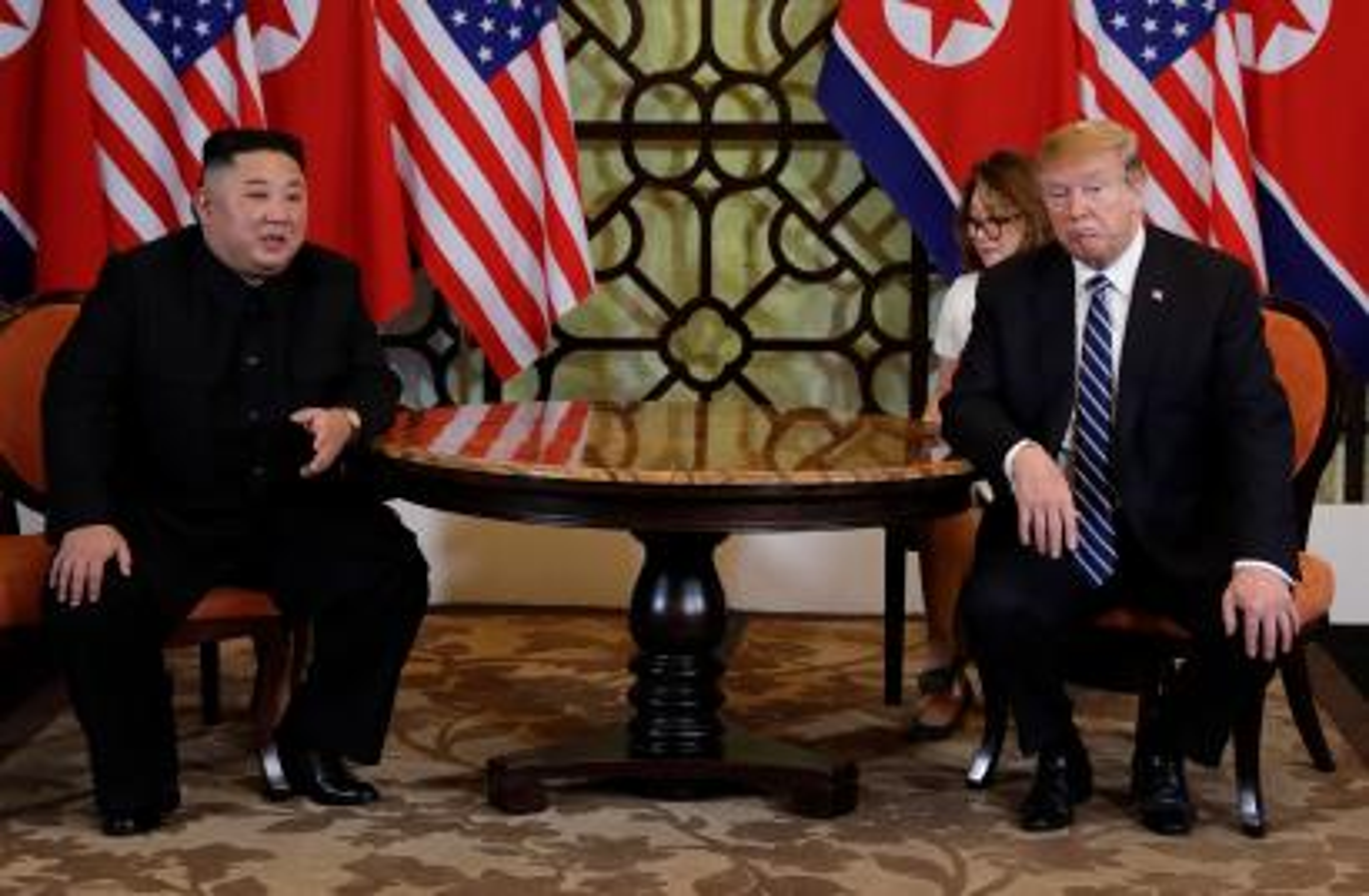President Donald Trump meets North Korean leader Kim Jong Un in Hanoi