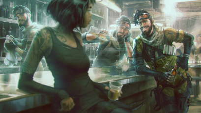 Concept art from Apex Legends, EA's answer to Epic Game's battle royale sensation Fortnite