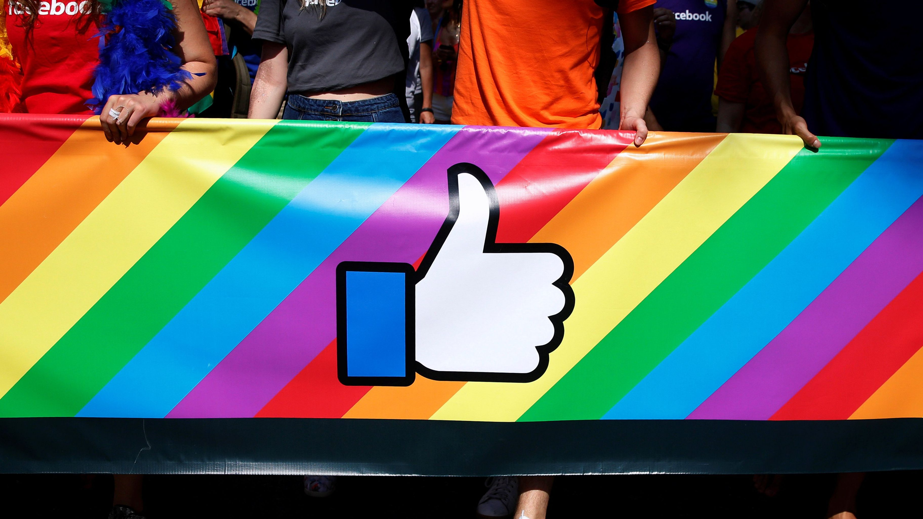 Employees of Facebook march in the annual NYC Pride parade in New York City, New York, U.S., June 26, 2016.