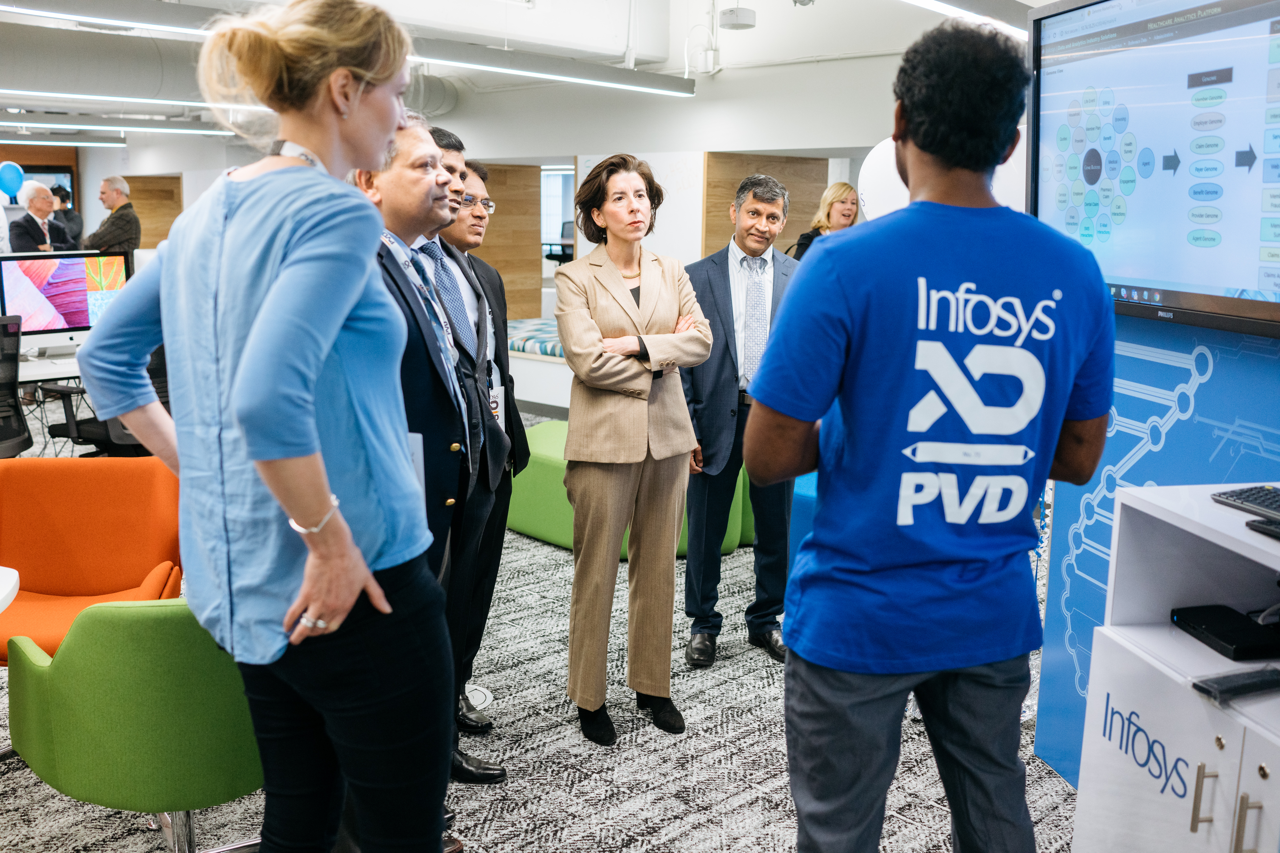 Infosys Closing In On Us Hiring Target Opens Design Hub In Providence Quartz At Work