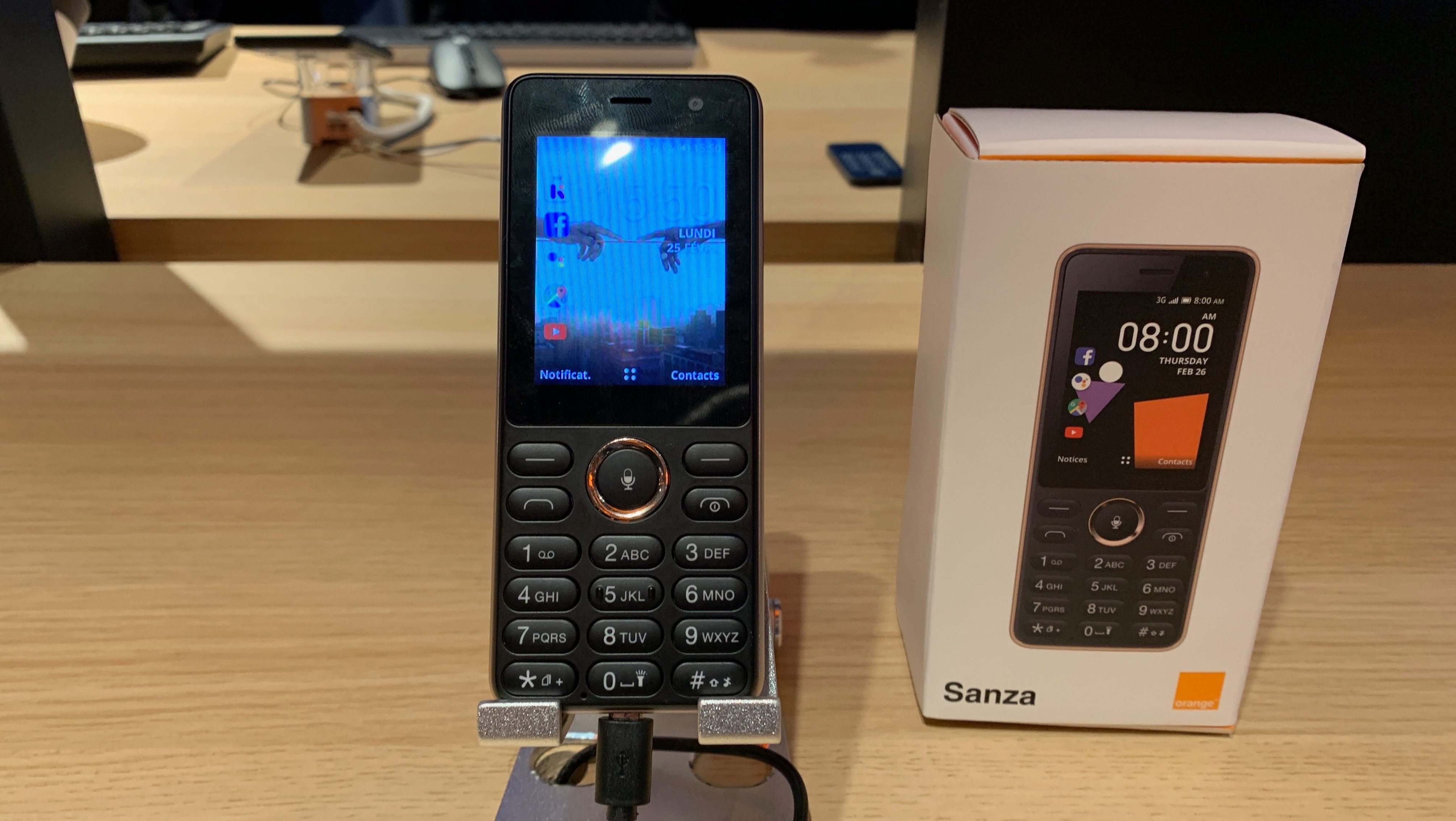 The Sanza smart feature phone