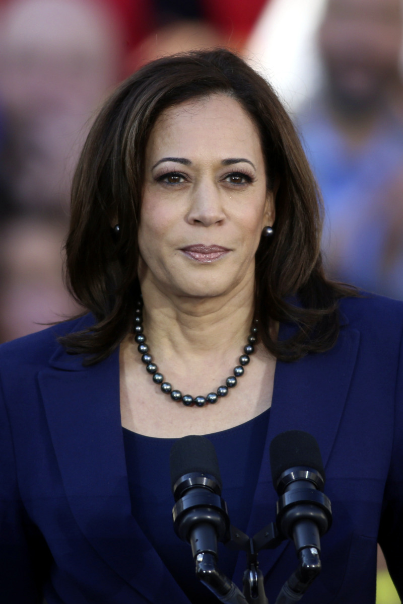 OAKLAND; CA - JAN 27: U.S. Senator Kamala Harris (D-CA) speaks to her supporters at the official launch rally for her campaign as a candidate for President of the United States in 2020 in front of Oakland City Hall at Frank H. Ogawa Plaza on January 27, 2019; in Oakland, California.