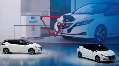 Nissan Motor Co's new Leaf, the latest version of the world's top selling electric vehicle (EV), are seen during its world premiere in Chiba, Japan, September 6, 2017.
