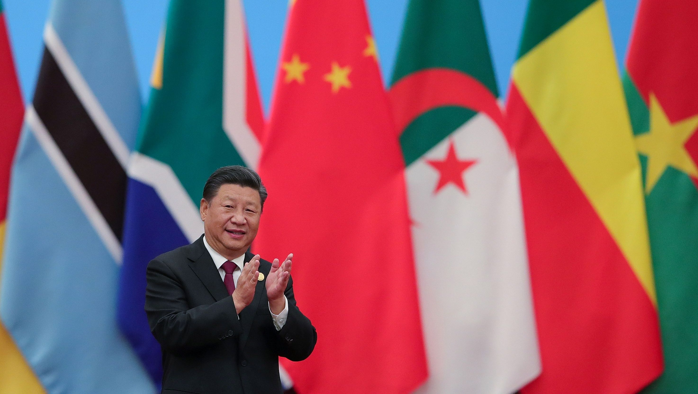 Chinese President Xi Jinping attends the 2018 Beijing Summit Of The Forum On China-Africa Cooperation - Round Table Conference at at the Great Hall of the People in Beijing on September 4, 2018 in Beijing, China