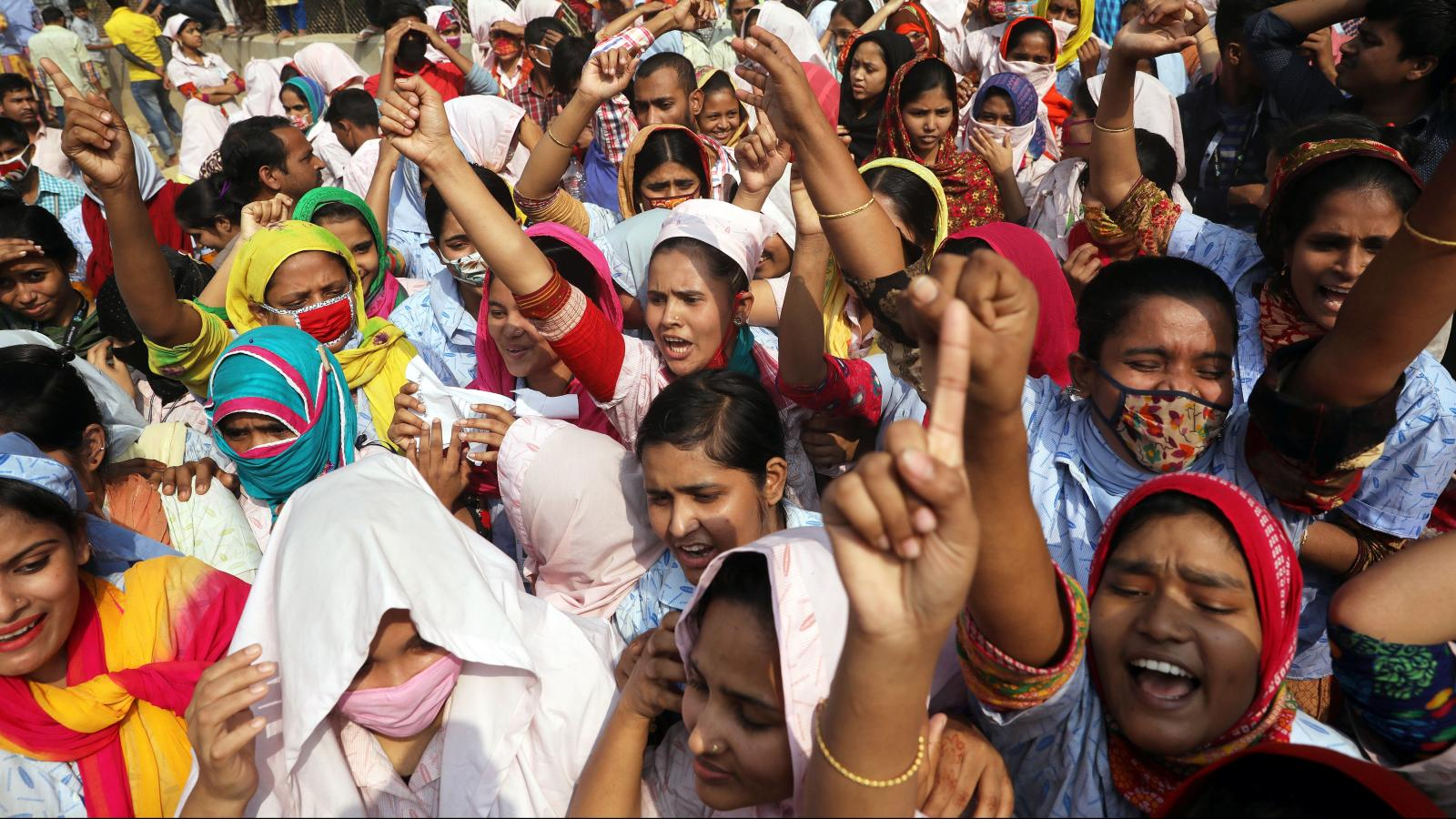 5,000 garment workers in Bangladesh were fired after protesting low