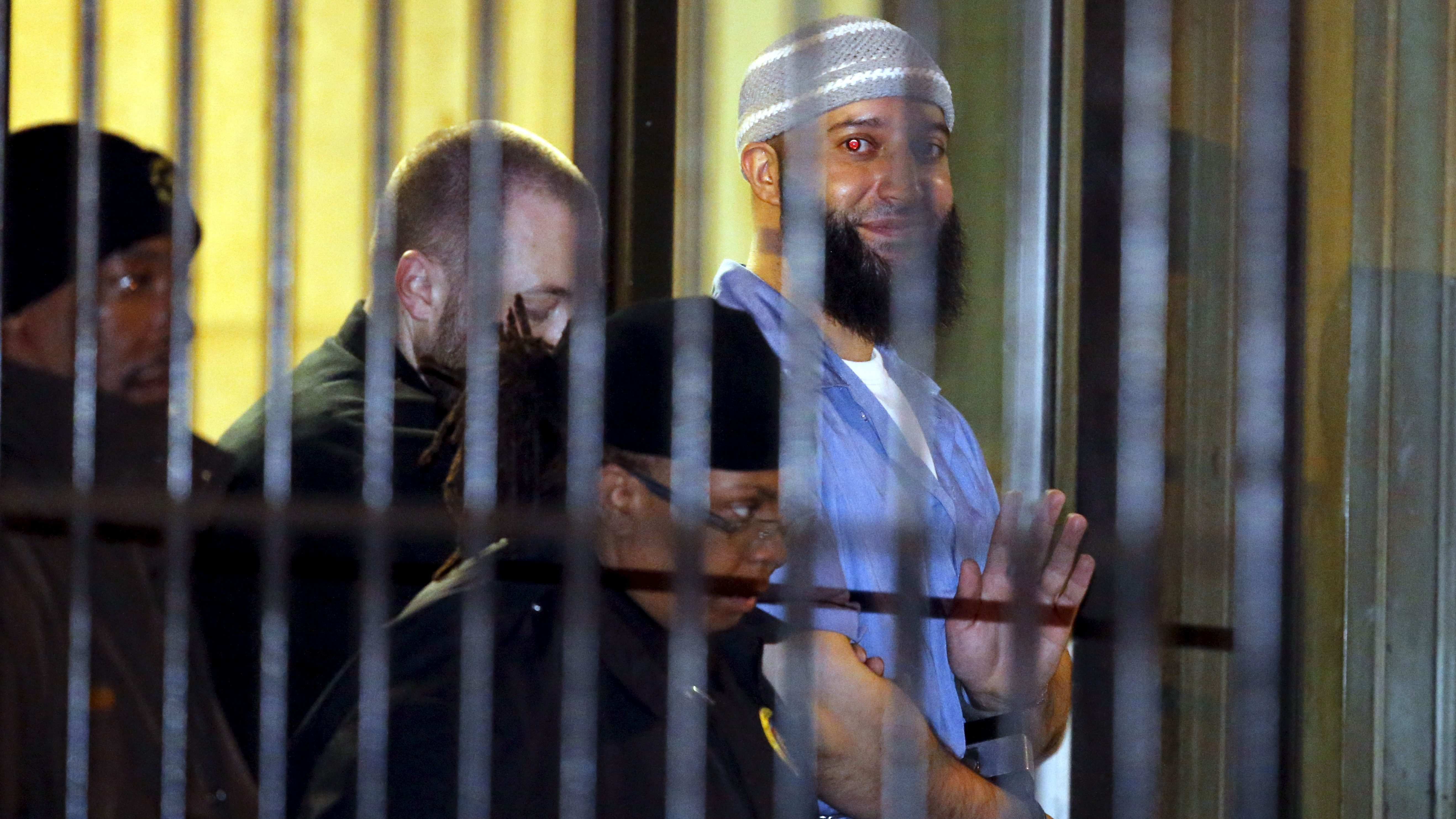 Convicted murderer Adnan Syed leaves the Baltimore City Circuit Courthouse in Baltimore, Maryland
